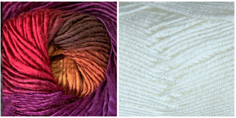 WHITE + ORCHID - Embossed Phoenix Scarf KIT