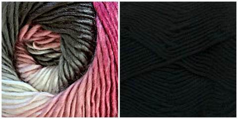 (100% ACRYLIC) BLACK + ORIENTAL LILY - Calla Lily Shawl KIT - Bonita Patterns