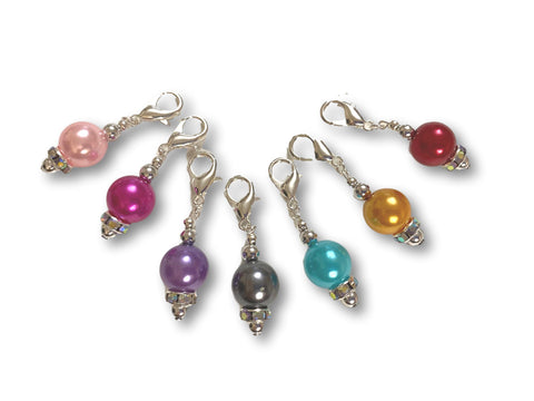 Pearl P1 - #001 Set of 7 Stitch Markers