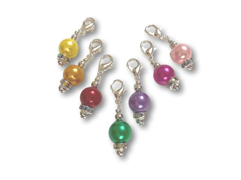 Pearl P1 - #002 Set of 7 Stitch Markers