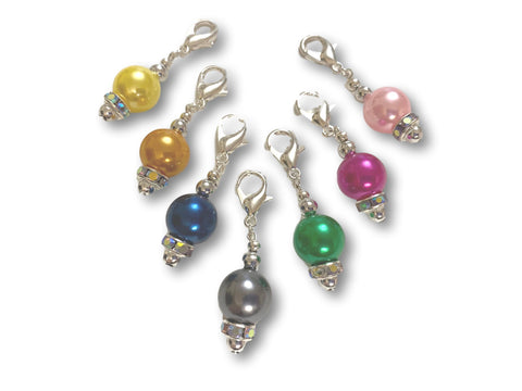 Pearl P1 - #003 Set of 7 Stitch Markers
