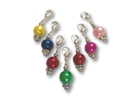 Pearl P1 - #004 Set of 7 Stitch Markers
