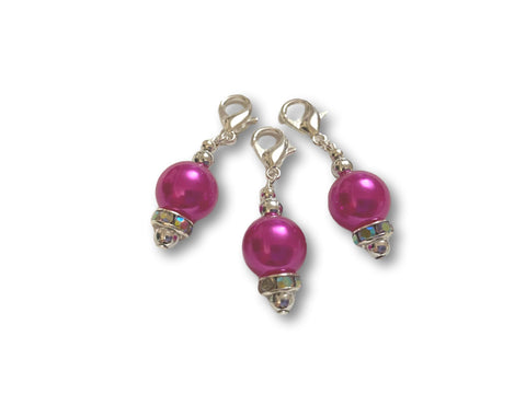 Pearl P1 - #005 Set of 3 Stitch Markers