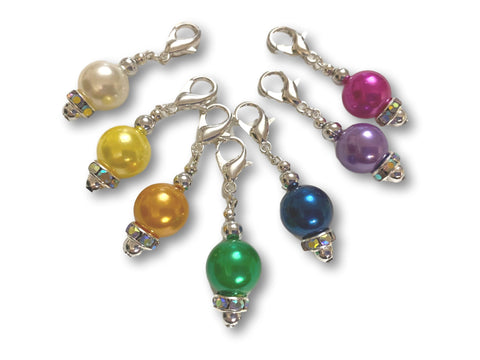 Pearl P1 - #006 Set of 7 Stitch Markers