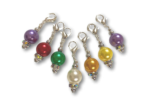 Pearl P1 - #007 Set of 7 Stitch Markers