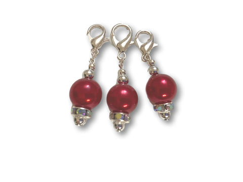 Pearl P1 - #009 Set of 3 Stitch Markers