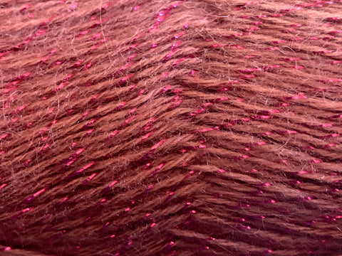 Bonita Yarns - Angora Shimmer - Rouge Metal Shades - Bonita Patterns