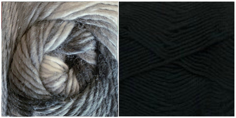 (NEW) PLATINUM + BLACK - Embossed Natura Shawl KIT