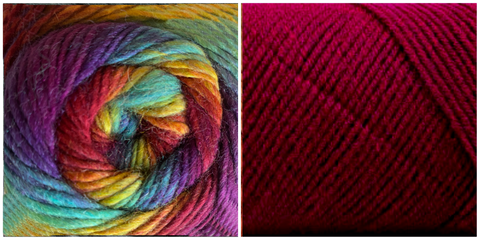 DARK FUCHSIA + PRISM - Embossed Natura Shawl KIT
