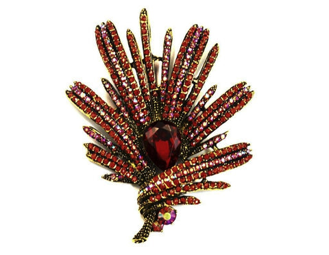 Red Firework Brooch - Bonita Patterns
