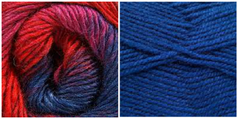 ROYAL BLUE + VIOLET FIELDS - Embossed Phoenix Vortex Shawl KIT
