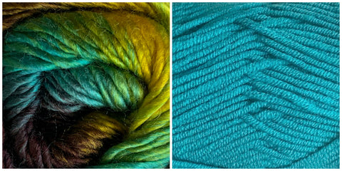 TURQUOISE + TREASURE - Embossed Phoenix Vortex Shawl KIT - Bonita Patterns