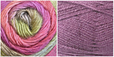 (100% ACRYLIC) LAVENDER + TULIP - Embossed Fall Pocket Shawl KIT