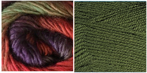 GRASS GREEN + VERDANA - Embossed Phoenix Scarf KIT