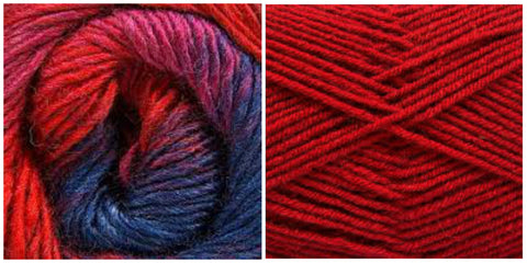 (NEW) RED + VIOLET FIELDS - Embossed Natura Shawl KIT