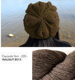 Embossed Leaves Slouch Hat Kit - Walnut