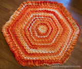 Crocodile Stitch Hexagonal Baby Blanket - Bonita Patterns