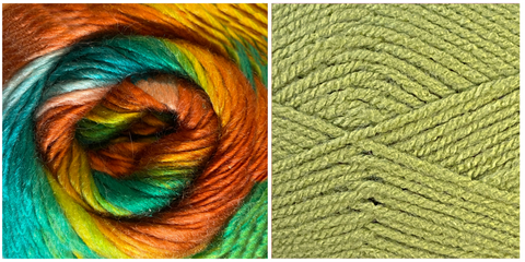(NEW) SPRING GREEN + WHAT A WONDERFUL WORLD - Embossed Natura Shawl KIT