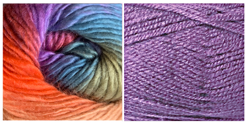 (NEW) LILAC + ZINNIA - Embossed Fall Pocket Shawl KIT