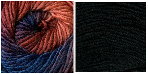 BLACK + BERRY SWIRL - Embossed Phoenix Scarf KIT - Bonita Patterns