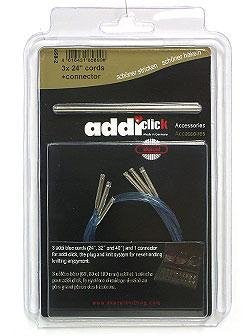 "Addi Lace Click Cords Needles - Lace Extra Cord - 1 40"" Needles"