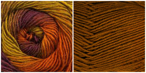 CARAMEL + FOLIAGE - Embossed Phoenix Vortex Shawl KIT