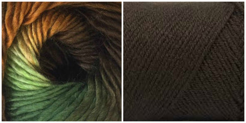 COFFEE + RAINFOREST - Embossed Phoenix Vortex Shawl KIT