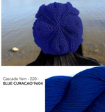 Embossed Leaves Slouch Hat Kit - Blue Curacao