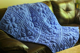 Embossed Leaves Blanket - Bonita Patterns