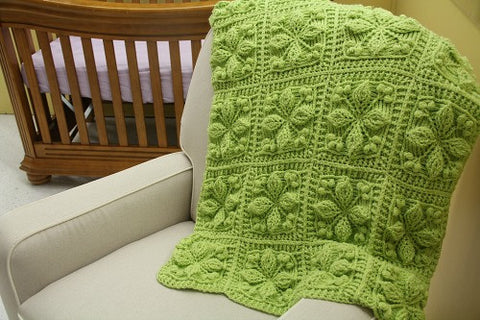 Embossed Garden Baby Blanket Crochet Pattern - Bonita Patterns