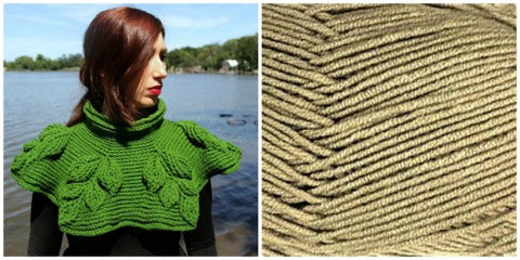 KIT CARAMEL - Embossed Branches Cowl - Bonita Patterns