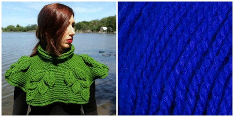KIT ROYAL BLUE - Embossed Branches Cowl