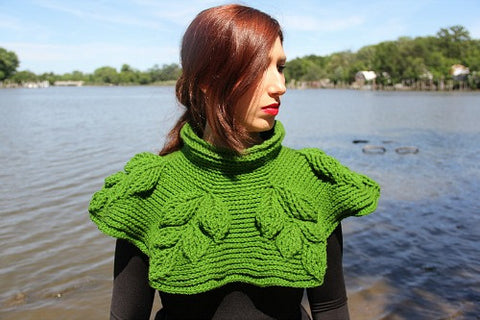 Embossed Branches Cowl Crochet Pattern - Bonita Patterns