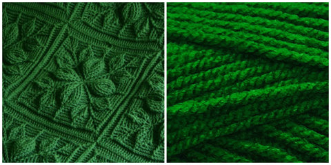 KIT GREEN LEAF - Embossed Leaves BLANKET - Bonita Patterns