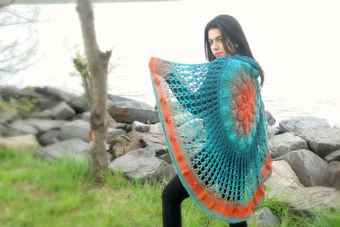 Embossed Crochet Circular Poncho CAL - Bonita Patterns