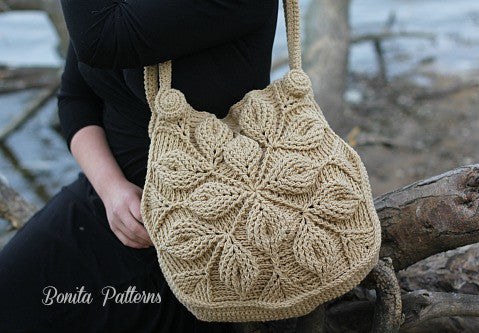 Embossed Garden Handbag Crochet Pattern - PF