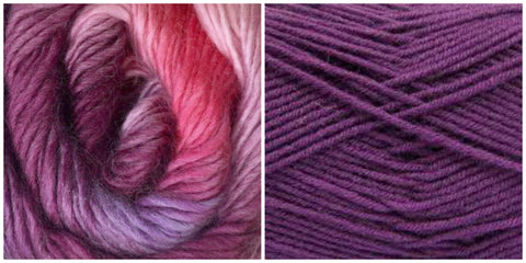 PURPLE + FUCHSIA - Embossed Phoenix Vortex Shawl KIT