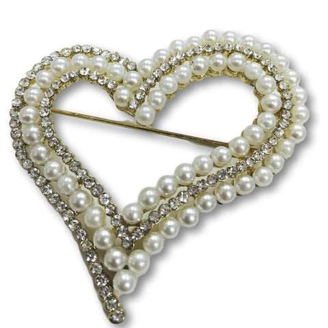 Pearl Heart Brooch - Bonita Patterns