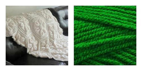 KIT GREEN LEAF (Solid Colorful)- Embossed Daisy Blanket - Bonita Patterns