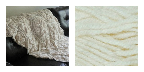 KIT VANILLA - Embossed Daisy Blanket