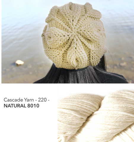 Embossed Leaves Slouch Hat Kit - Natural