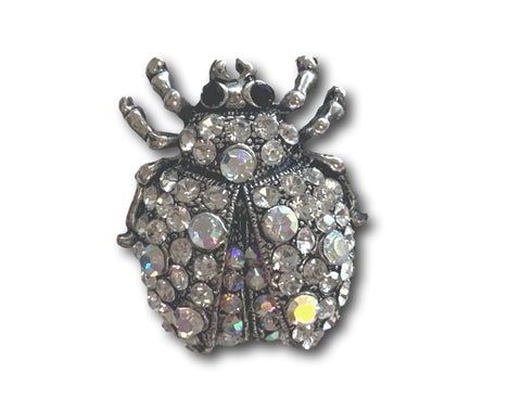 Silver Small Beetle Brooch - Bonita Patterns