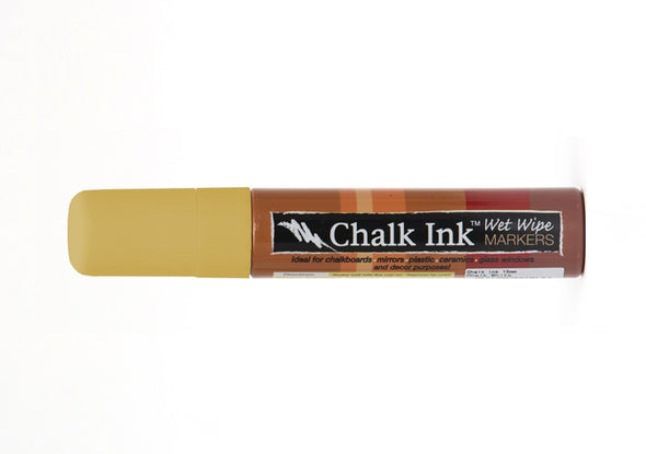 Image of the product 15mm Chalk Ink Dijon Mustard Wet Wipe Marker