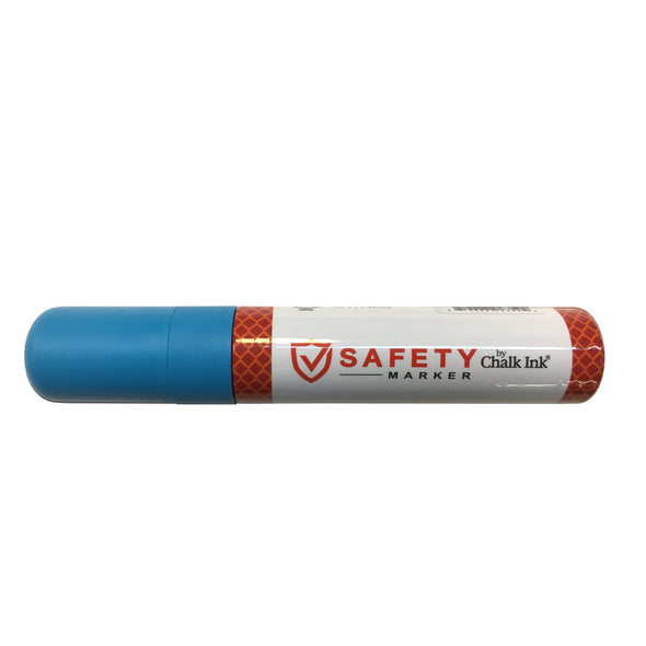 NEW 15mm Broad Tip Chalk Ink Fluorescent Laser Blue Safety Marker