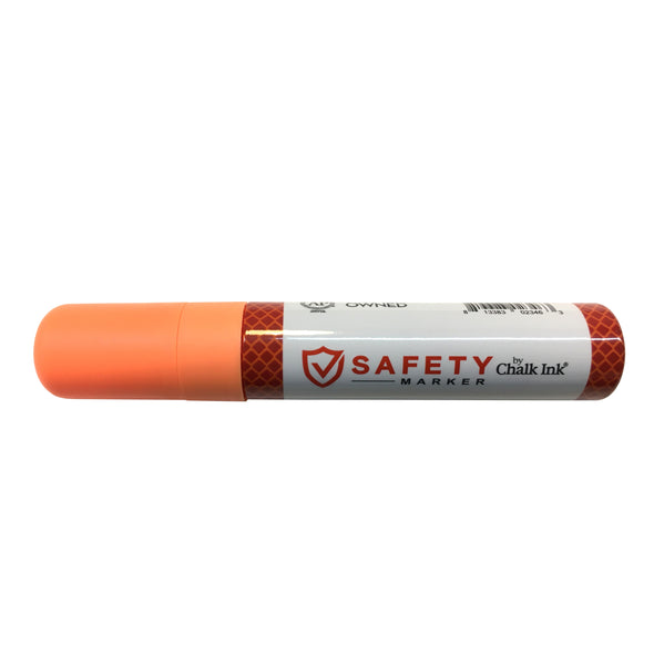 NEW 15mm Broad Tip Chalk Ink Fluorescent Caution Orange Safety Marker