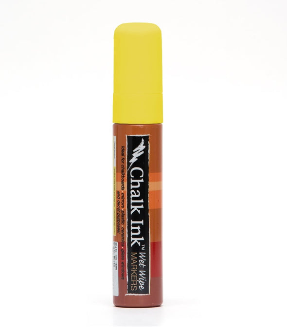 Image of the product 15mm Chalk Ink Smiley Face Yellow Wet Wipe Marker