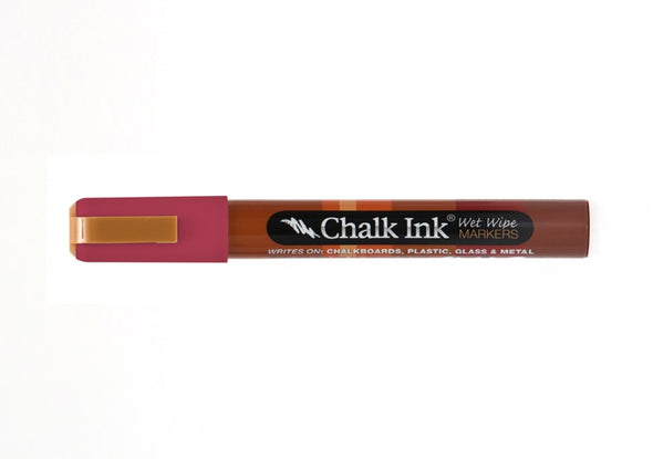 Chalk Ink® Cayenne 6mm Chisel Tip Wet Wipe Marker