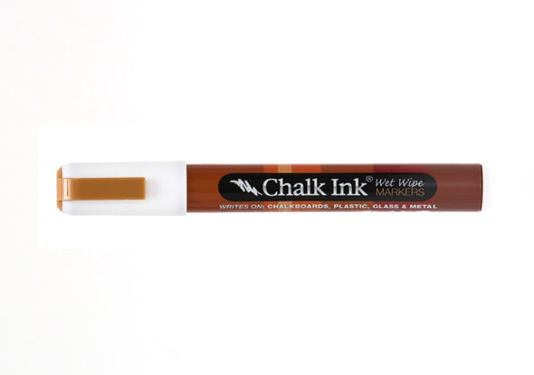 Chalk Ink® Chalk White 6mm Chisel Tip Wet Wipe Marker