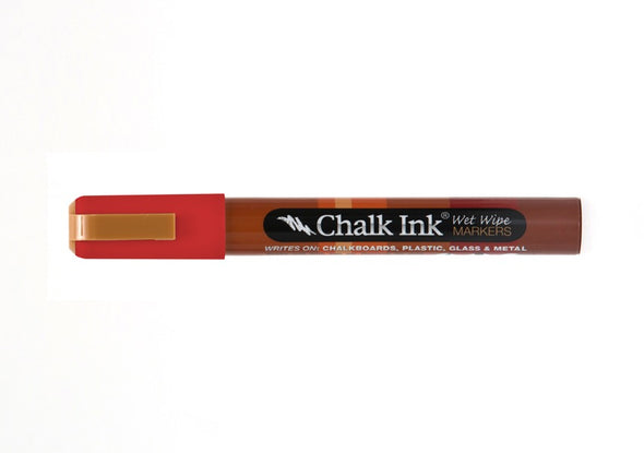 Chalk Ink® Clown Nose Red 6mm Chisel Tip Wet Wipe Marker
