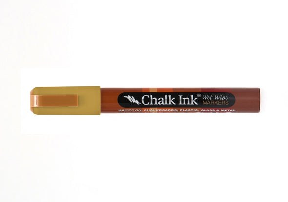 Chalk Ink® Dijon Mustard 6mm Chisel Tip Wet Wipe Marker